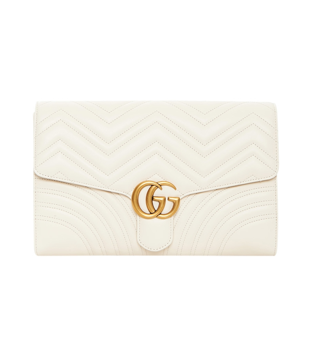 f19633d237ce Gucci 'Gg Marmont' Leather Clutch In Wht | ModeSens