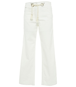 white tommy white jeans with rope belt