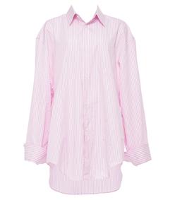 vetements x comme des garcons pink & white button-down