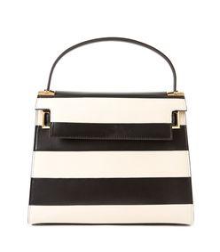 ShopBazaar Valentino Black & White Rockstud Striped Bag MAIN