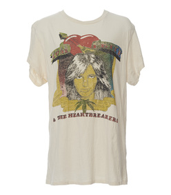 white 'tom petty' concert t-shirt