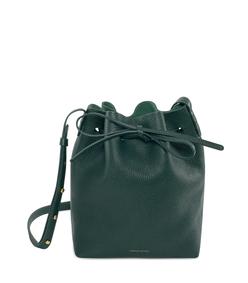 moss green mini bucket bag