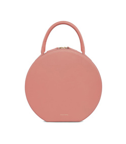 calf circle bag in blush/blush