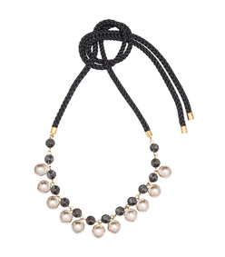 black pearl 'resin' necklace
