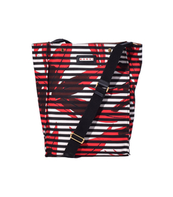 red striped shopping bag