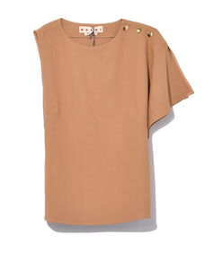 caramel tank top with kimono sleeve