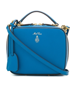 blue saffiano baby laura bag