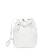 white mini bucket bag