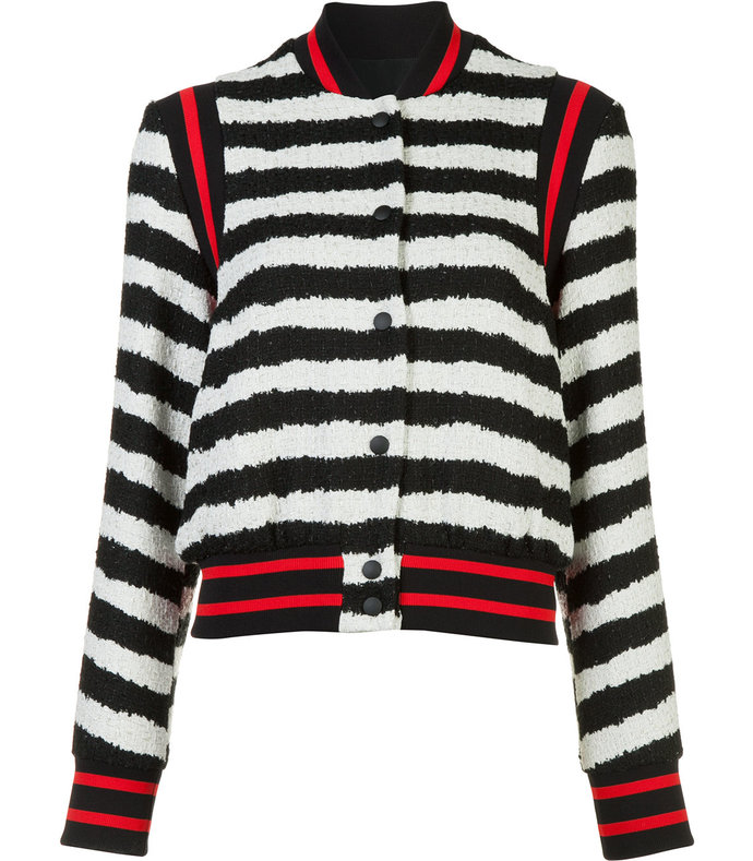 multi striped bomber jacket
