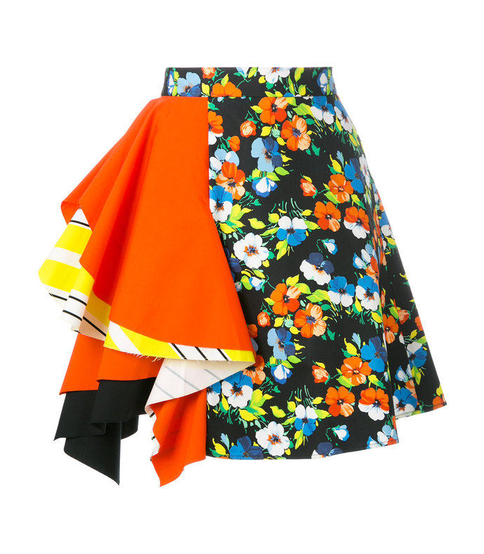 multicolor floral print skirt