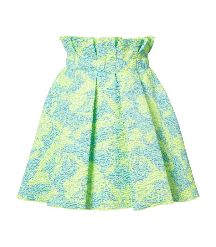 multicolor brocade a-line skirt
