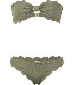 olive green 'antibes' strapless bikini