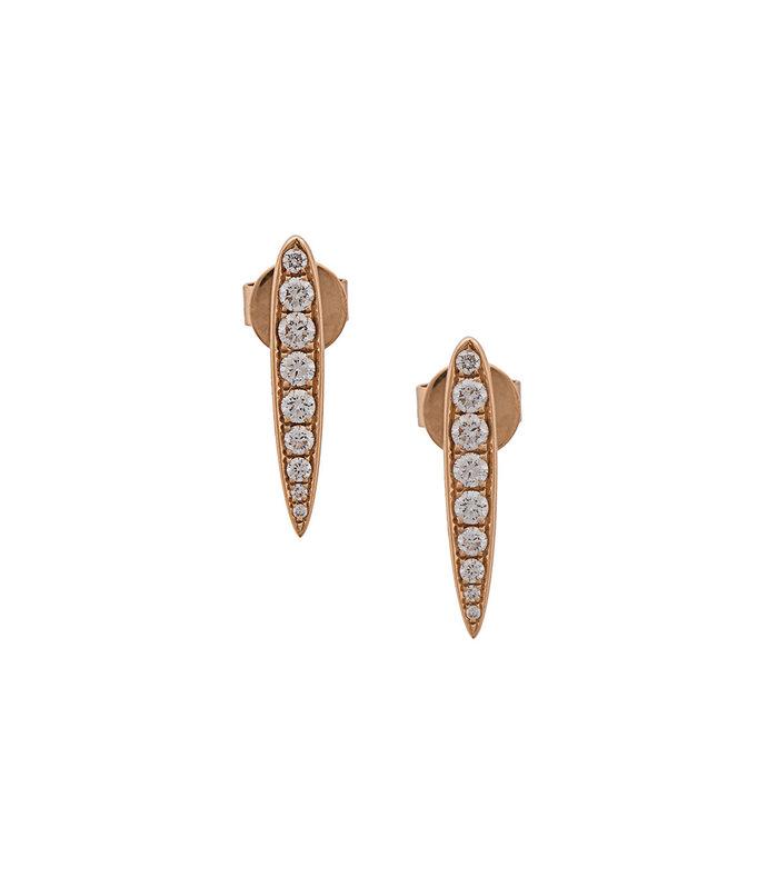 gold line stud earrings