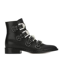 black elegant ankle boots