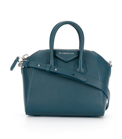 light blue mini antigona tote bag