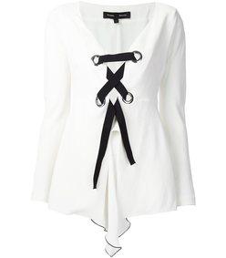white & black 'corset' top