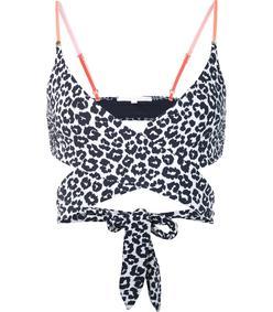 black & white 'midnight animal' bikini top
