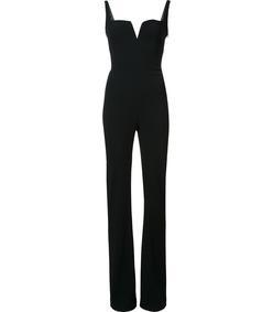 black square collar jumpsuit