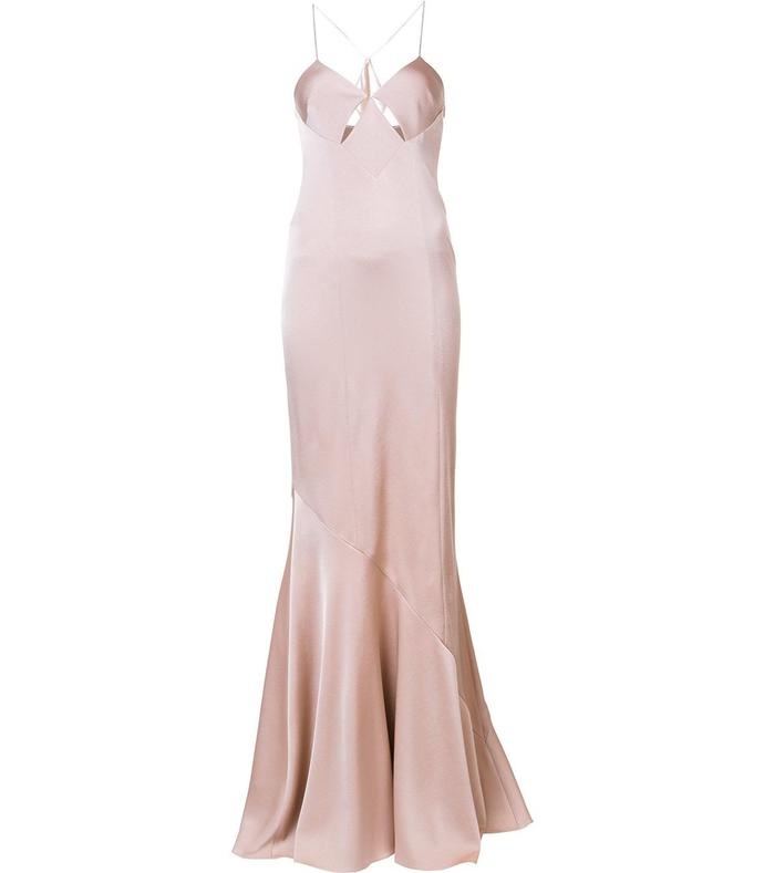 nude evening gown