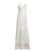 tie-dye silk-satin gown