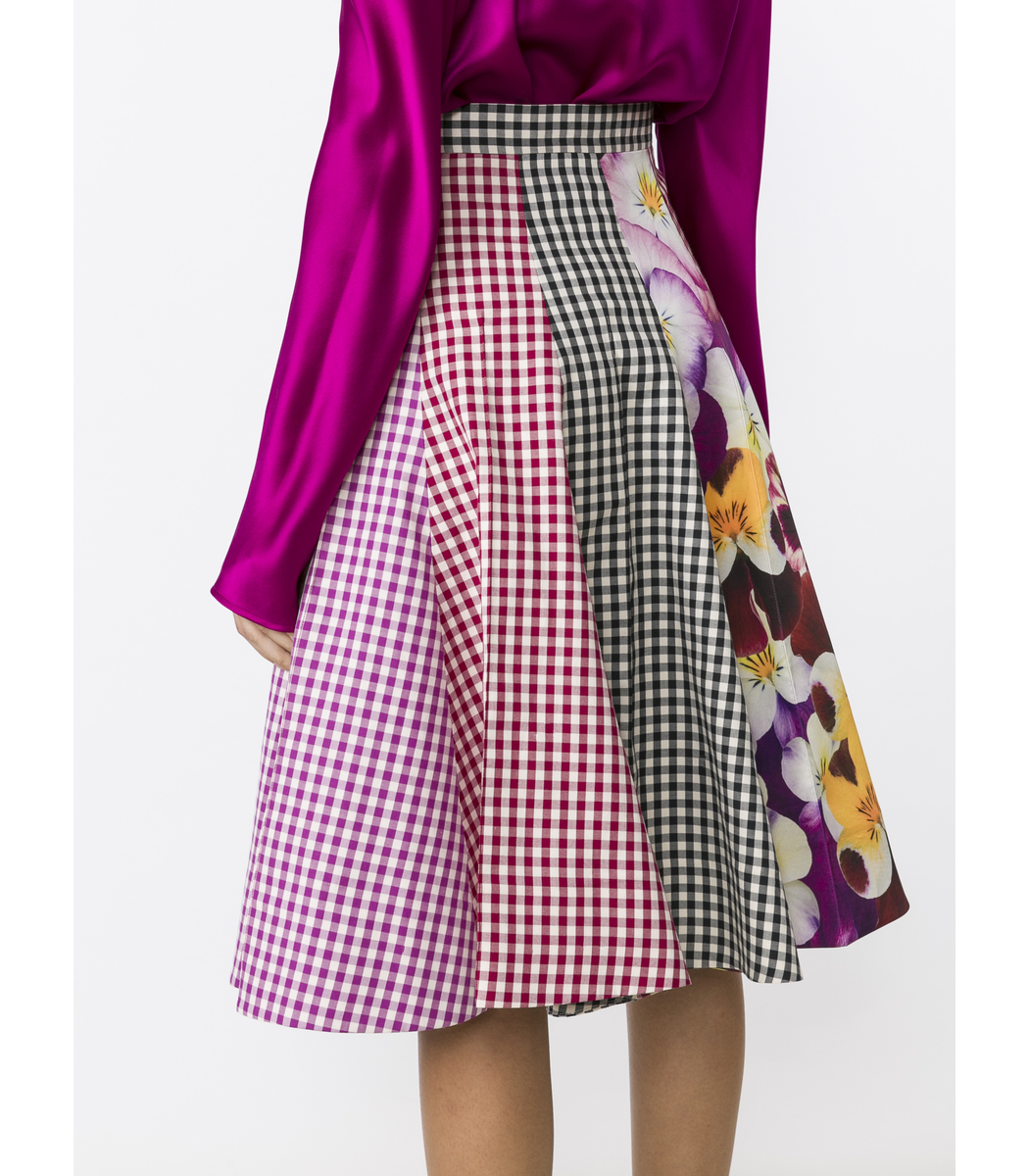 Christopher Kane Gingham Printed A-line Skirt - Gingham Printed A ...