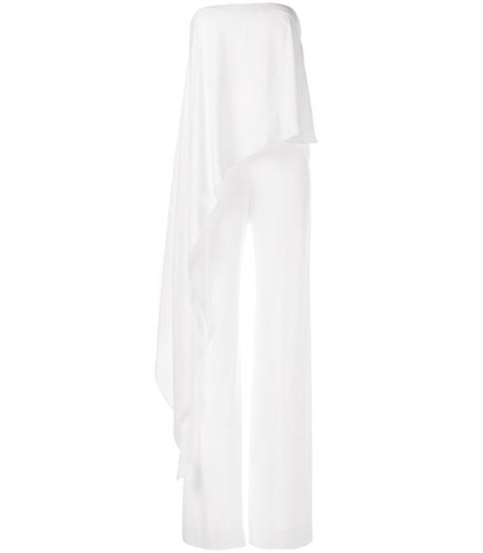 white off-shoulder jumpsuit