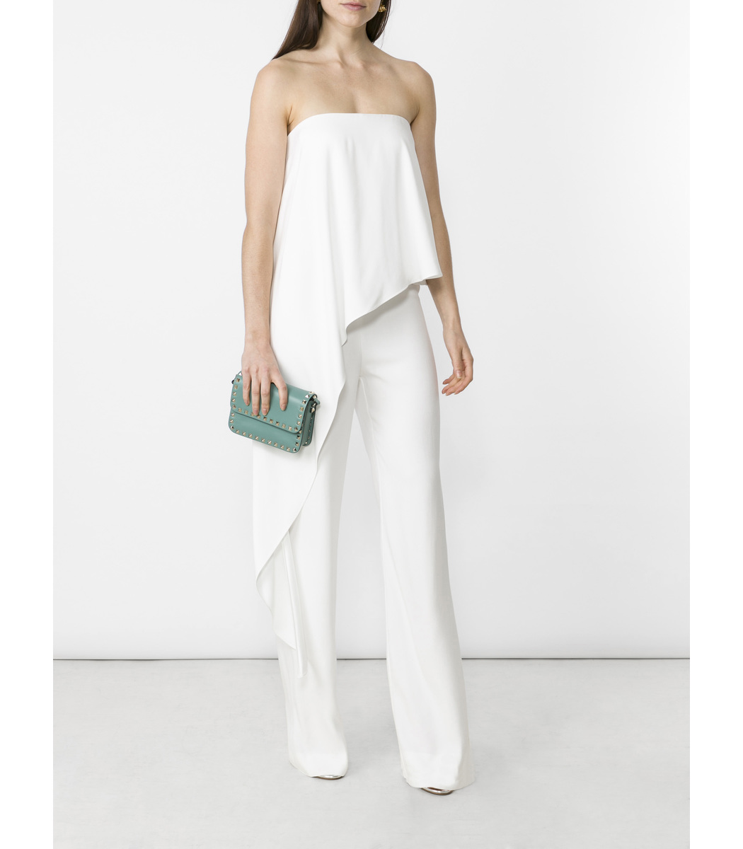 c48773c4cd4 Adam Lippes Off-Shoulder Jumpsuit - Ivory Silk Jumpsuit …