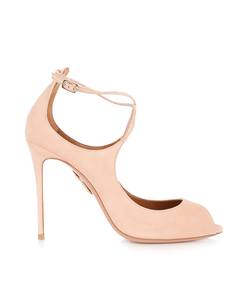 pink 'zani' suede pump