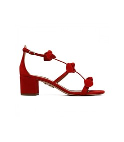 red saint tropez bow sandal