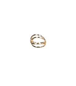 gold double-hoop ring