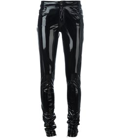 black vinyl shinny trouser