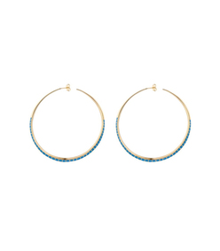 gold 'apache' hoops