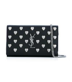 black & silver heart chain wallet
