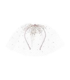 silver embellished tulle headband