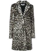 leopard 'toti' faux fur coat