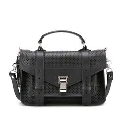 black mini perforated 'ps1' satchel