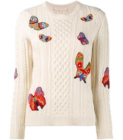 butterfly cable knit sweater