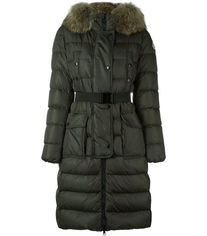 green 'khloe' padded coat