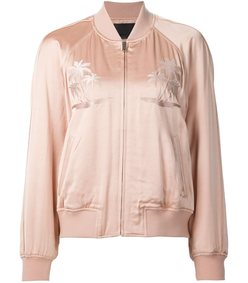 light pink palm tree bomber