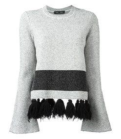 black & white tassel jumper