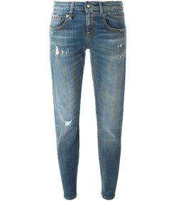 blue distressed jean