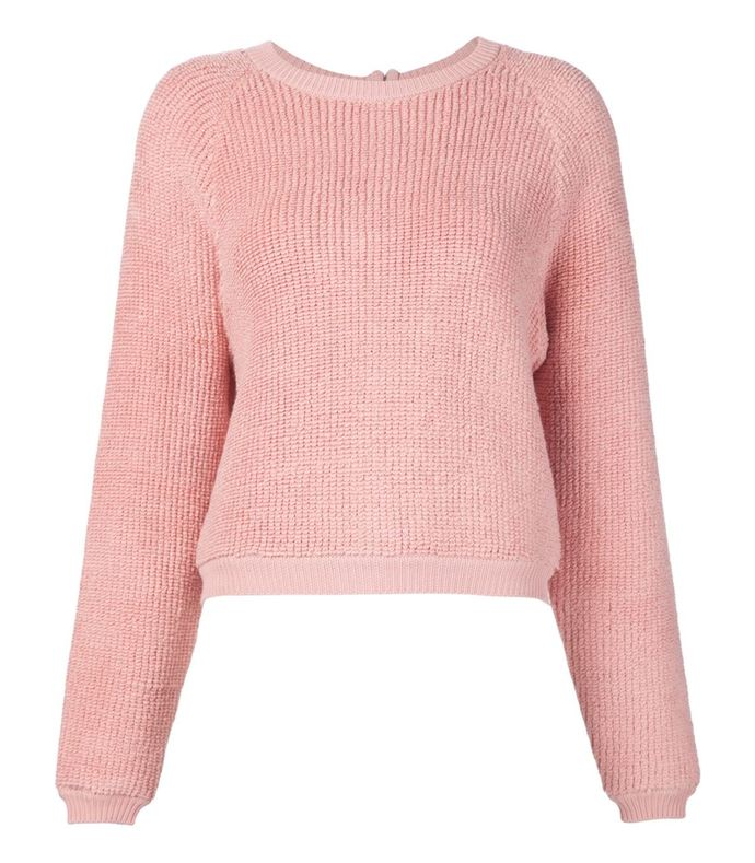 pink rear zip knit
