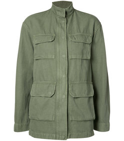green relaxed fit military jacket