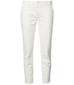 white raw hem skinny jeans