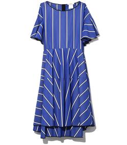 stripe a-line dress