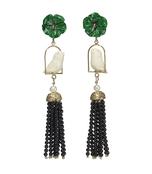 green multi 'swingers' earrings