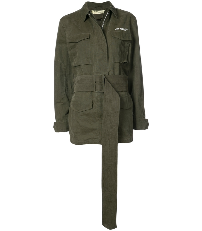 green new field military jacket