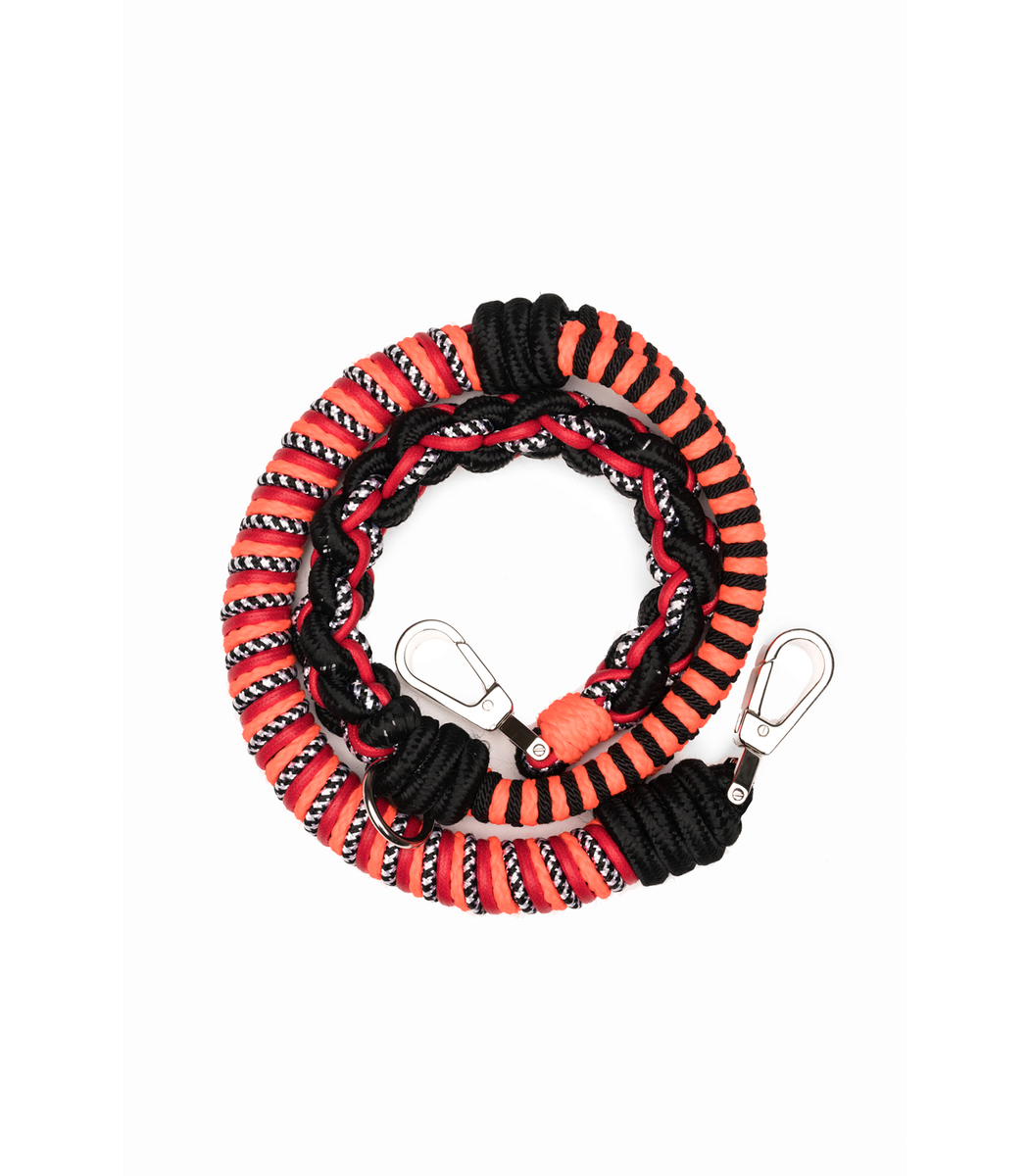 PROENZA SCHOULER Straps Flame Red Mix Braided Shoulder Strap