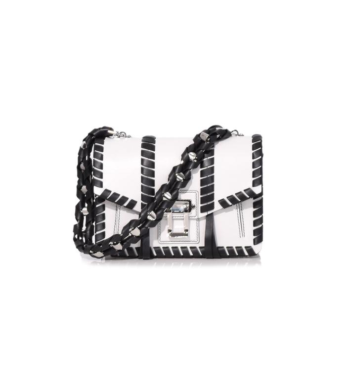 white & black hava chain handbag