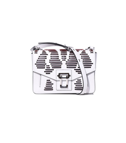 white & black 'hava' shoulder bag